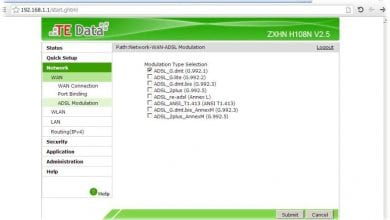Photo of How to check DSL Modulation type TE-Data ( ZXHNH108N )
