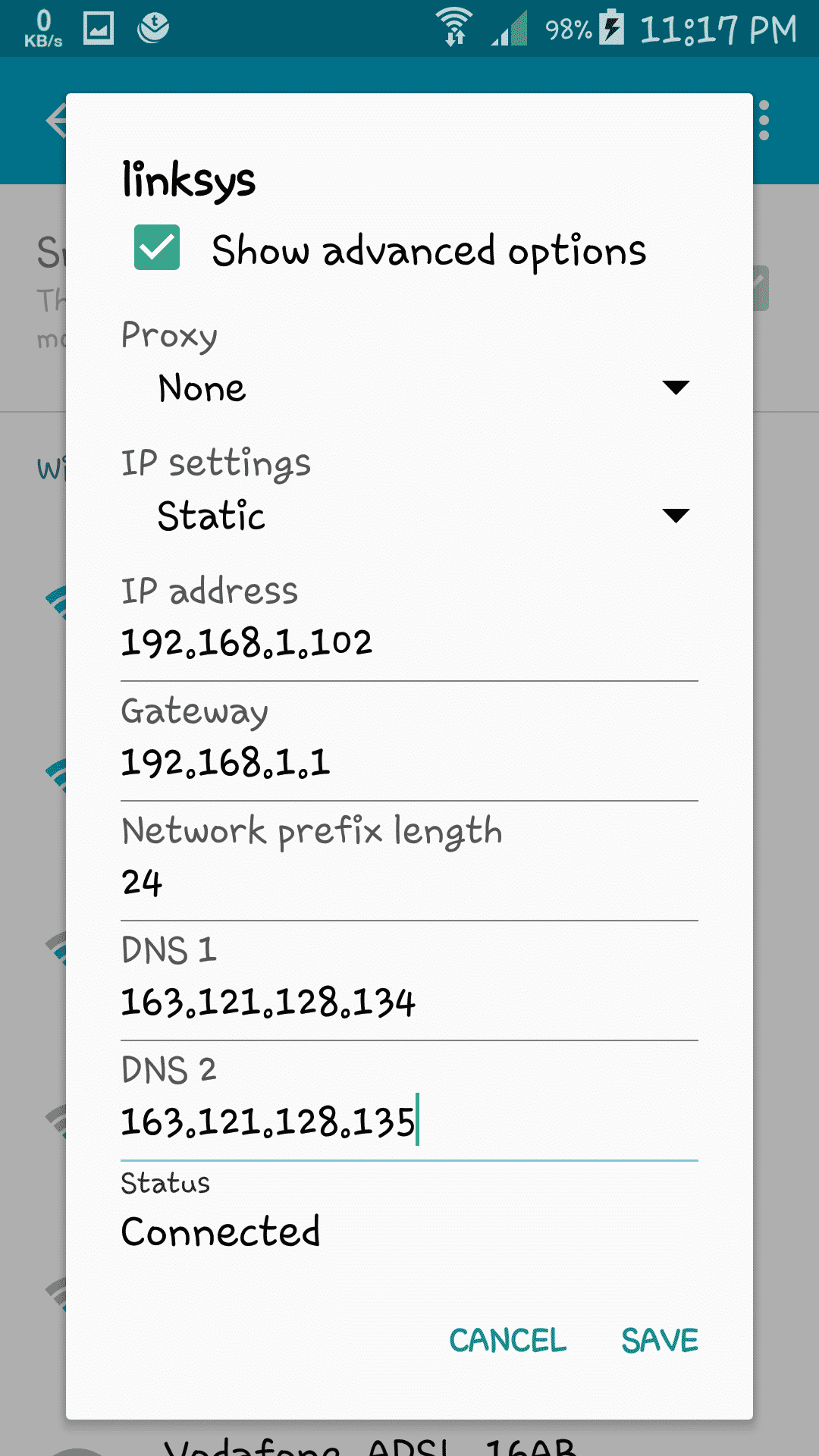 How To Add The DNS Manualy For  Android