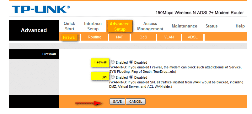 How to make Huawei HG520b Router ping-able
