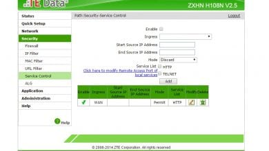How to make Router ZTE ping-able 62