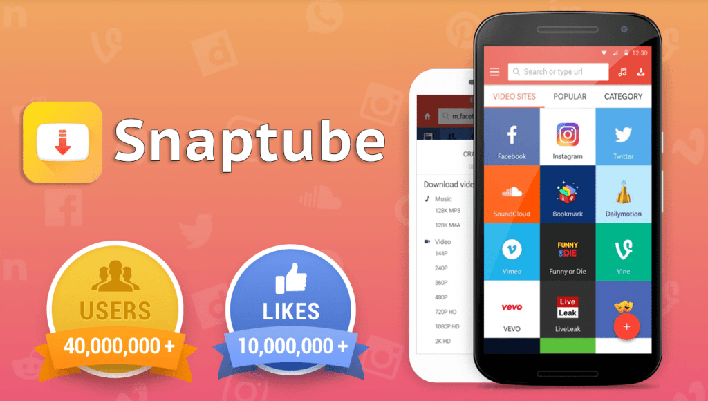 Download Snaptube app for android